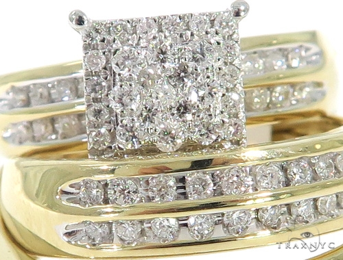 Prong Diamond Engagement Ring Set 49391 Engagement