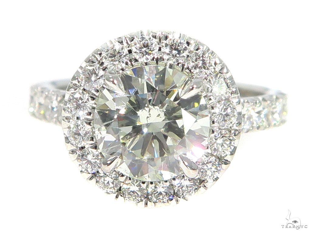 Prong Diamond Engagement Ring Set 49761 Engagement