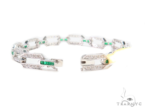 Prong Diamond Gemstone Bracelet 43276 Gemstone & Pearl