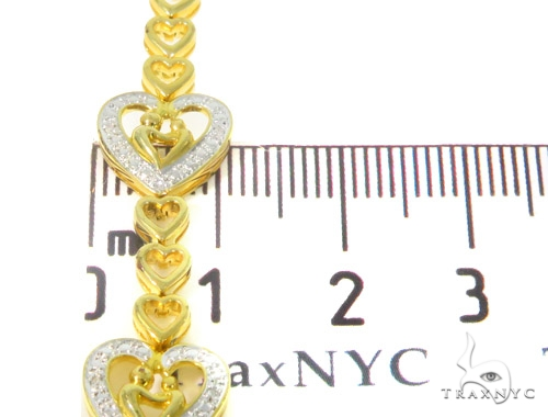 Prong Diamond Heart Bracelet 44314 Silver & Stainless Steel