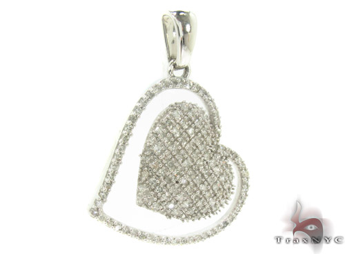 Prong Diamond Heart Pendant 33742 Style