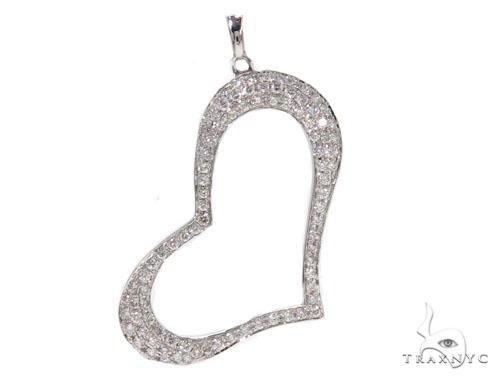 Prong Diamond Heart Pendant-40134 Style
