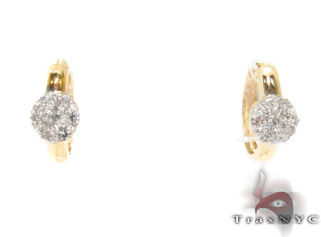Prong Diamond Hoop Earrings 32061 Style