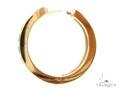 Prong Diamond Hoop Earrings 37633 Style