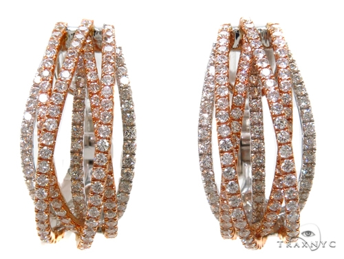 Prong Diamond Hoop Earrings 40393 Style