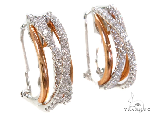 Prong Diamond Hoop Earrings 40395 Style
