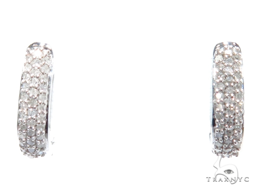Prong Diamond Hoop Earrings 41863 Style