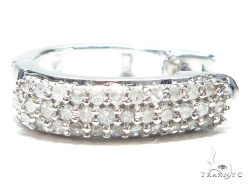 Prong Diamond Hoop Earrings 41863 Style