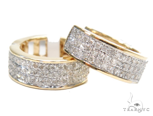Prong Diamond Hoop Earrings 43115 Style