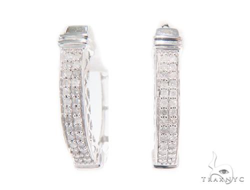 Prong Diamond Hoop Earrings 43923 Style