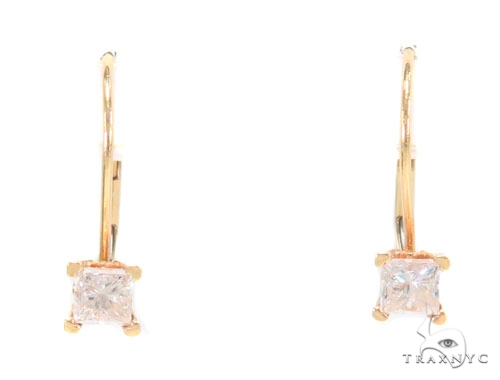 Prong Diamond Hoop Earrings 43976 Style
