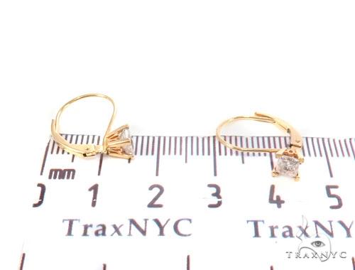 Prong Diamond Hoop Earrings 43976 Style