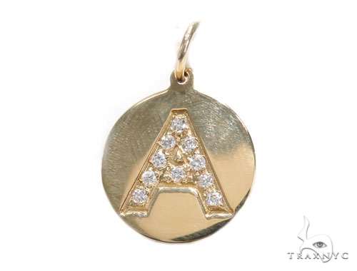 Prong Diamond Initial 'A' Pendant 40945 Style