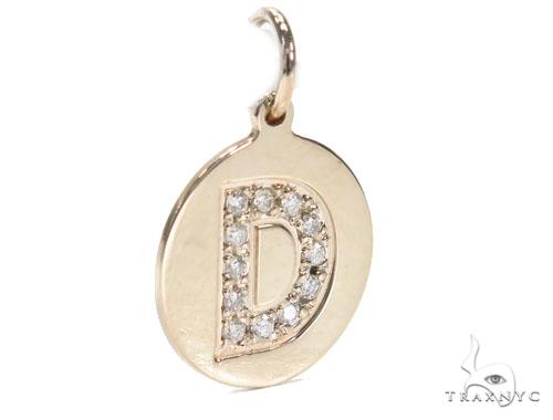Prong Diamond Initial 'D' Pendant 40948 Style