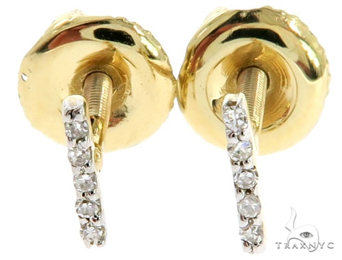 Prong Diamond Initial 'I' Earrings 57158 Stone