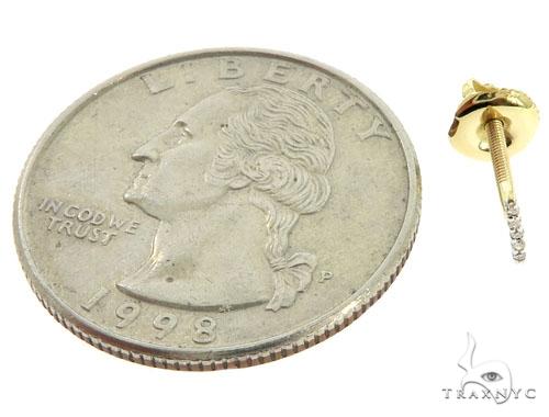 Prong Diamond Initial 'I' Earrings 57158 Stone
