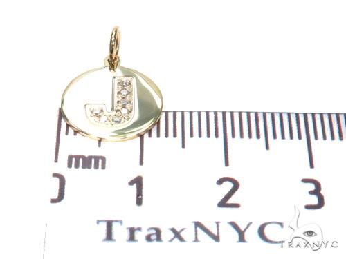 Prong Diamond Initial 'J' Pendant 40944 Style