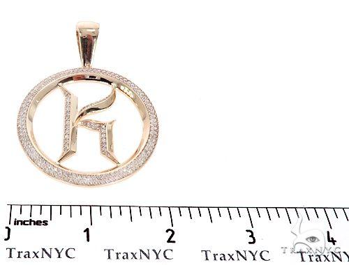 Prong Diamond Initial Letter K Pendant 64821 Metal