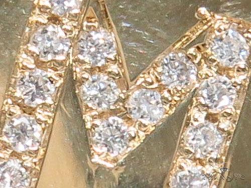 Prong Diamond Initial 'M' Pendant 40943 Style