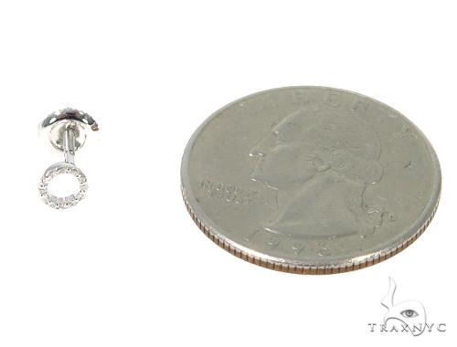 Prong Diamond Initial 'O' Earrings 32649 Stone