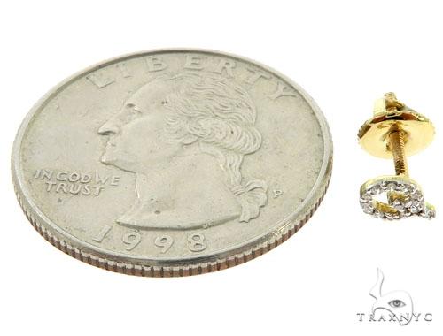 Prong Diamond Initial 'Q' Earrings 57146 Stone