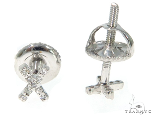 Prong Diamond Initial 'X' Earring 48922 Stone