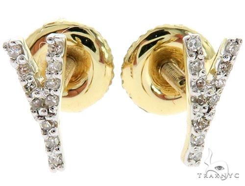 Prong Diamond Initial 'Y' Earrings 57152 Stone