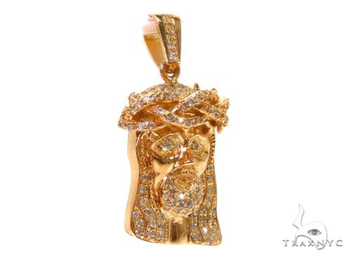 Prong Diamond Jesus Pendant 37553 Style
