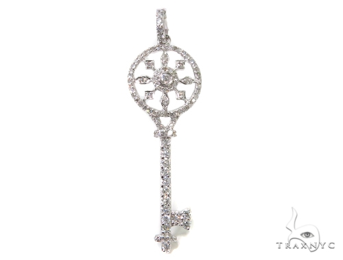 Prong Diamond Key Pendant 40160 Style