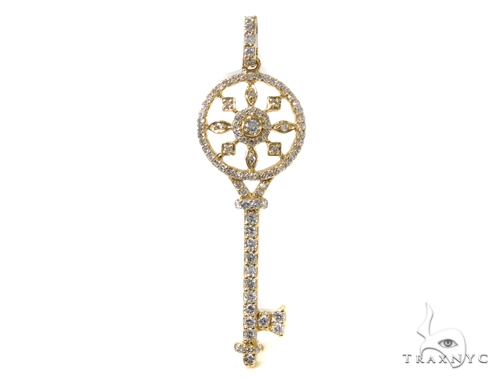 Prong Diamond Key Pendant 40161 Style