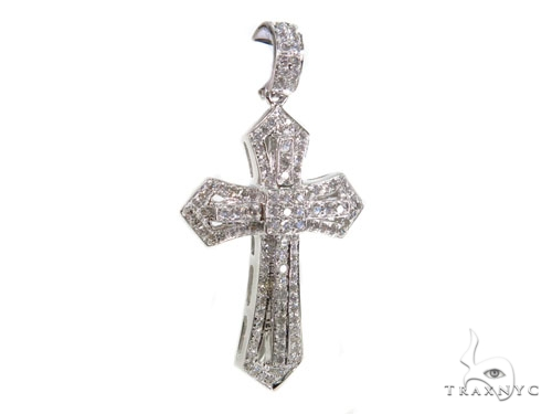 Prong Diamond Key Pendant 40225 Style