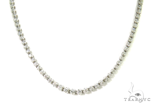 Prong Diamond Necklace 37978 Diamond