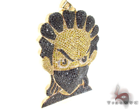 Custom Jewelry - Diamond Boondocks Ninja Pendant 32024 Metal