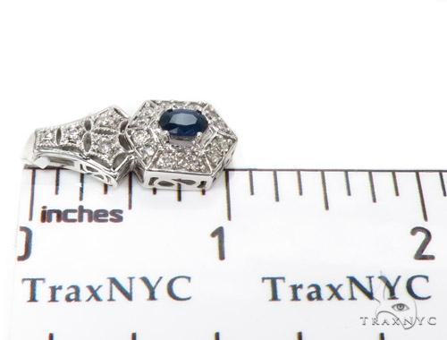 Prong Diamond & Sapphire Pendant 40377 Stone