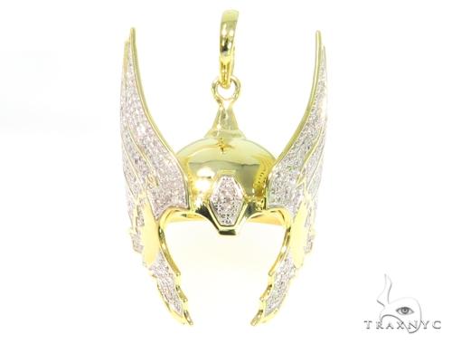 Prong Diamond Helmet Pendant 44728 Metal