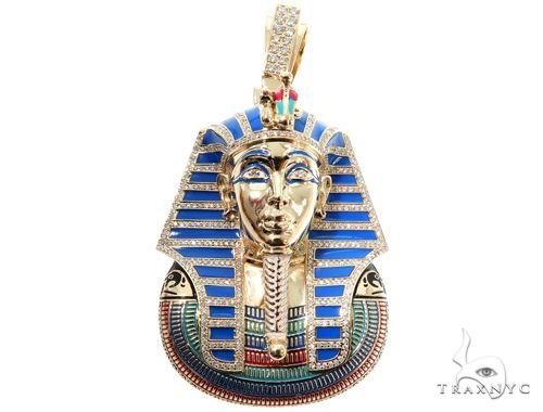 Prong Diamond Pharaoh King Tut Pendant 64025 Metal