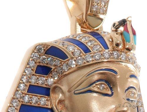 Prong Diamond Pharaoh King Tut Pendant Metal