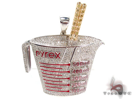 Prong Diamond Pyrex Custom Pendant Metal