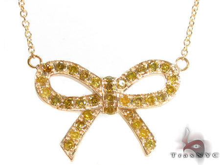 Prong Diamond Ribbon Necklace 34720 Diamond