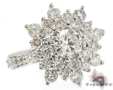 18K White Gold Burst Diamond Ring 32012 Anniversary/Fashion