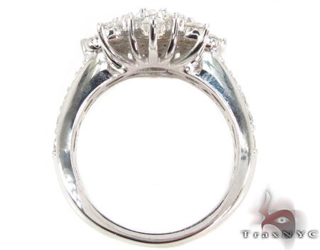 18K White Gold Burst Diamond Ring 32012 Anniversary/Fashion