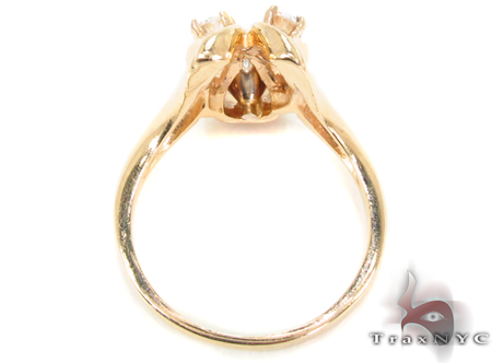 14K Yellow Gold Triple Diamond Ring 32662 Anniversary/Fashion