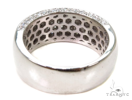 14k White Gold Prong Diamond Band 37320 Stone