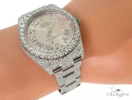 DateJust Oyster Perpetual Diamond Rolex Watch 41mm Stainless Steel Diamond Rolex Watch Collection