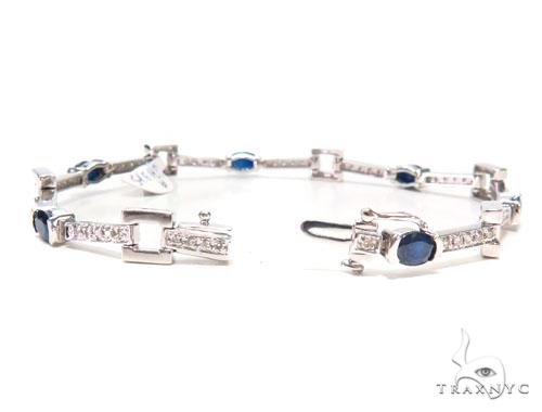 Prong Diamond Sapphire Bracelet 44868 Diamond
