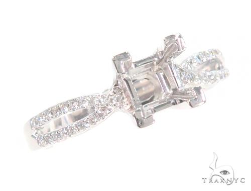 Prong Diamond Semi Mount Engagement Ring 45239 Engagement