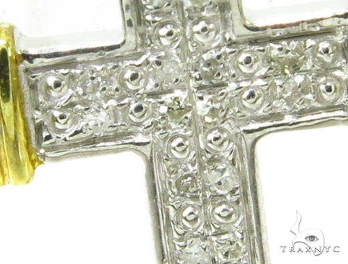 Prong Diamond Silver Cross 37150 Silver