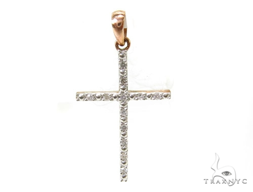 Prong Diamond Silver Cross 37192 Silver