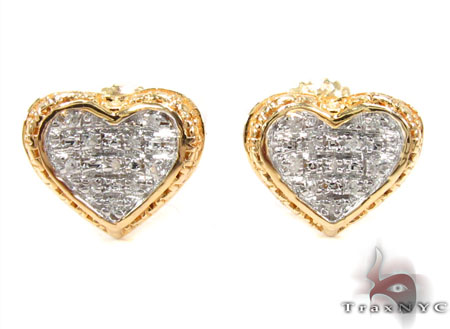 Prong Diamond Silver Earrings 30750 Metal