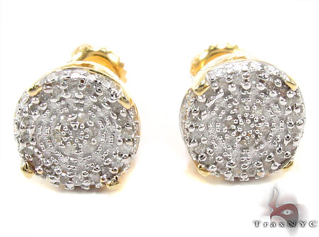 Prong Diamond Silver Earrings 30765 Metal